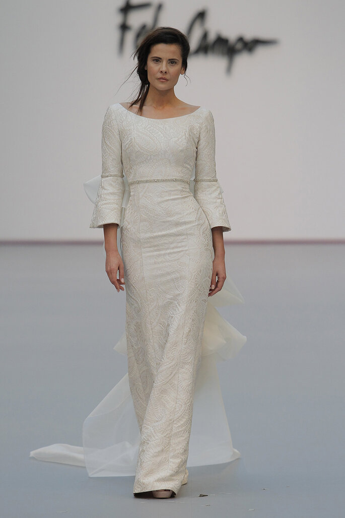 Kleid von Fely Campo. Credits: Madrid Bridal Week