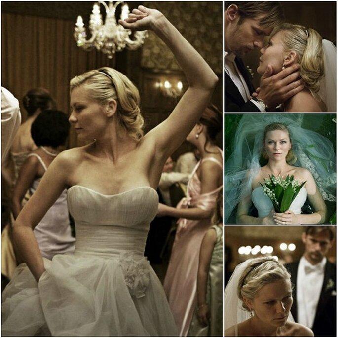 El vestido de novia de Kirsten en Dunst en Melancholia