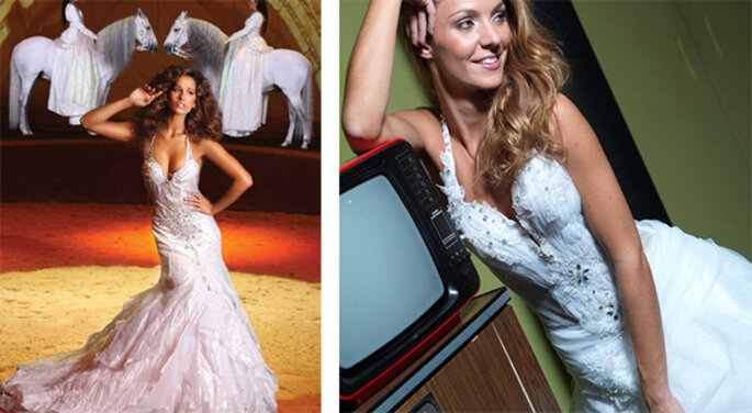 Due modelli della portoghese Micaela Oliveira