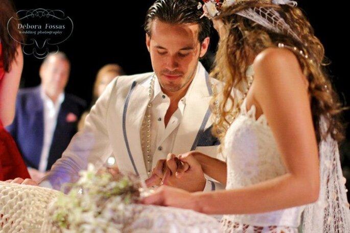 Real Wedding: Boda hippie chic con detalles marítimos - Foto Débora Fossas