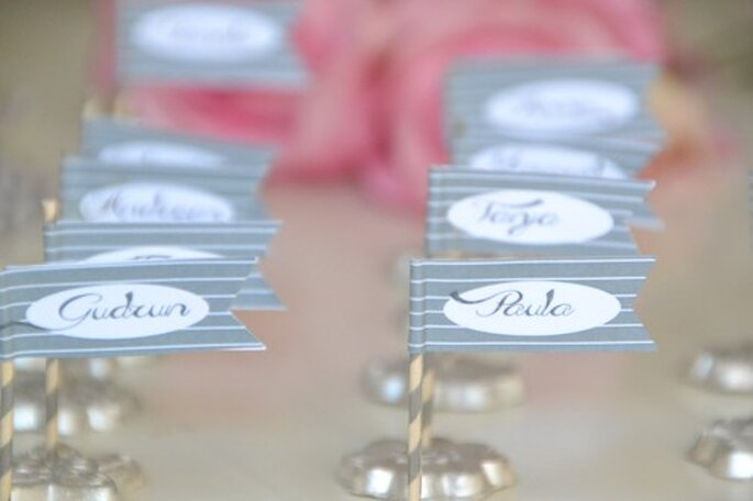 Diy Hochzeits Tischdekoration Namenskartchen Im Vintage Look