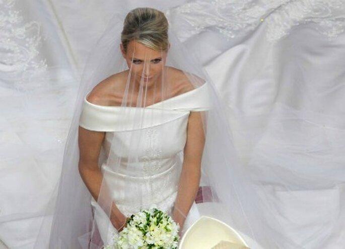Imagen contrapicada de la novia - AFP