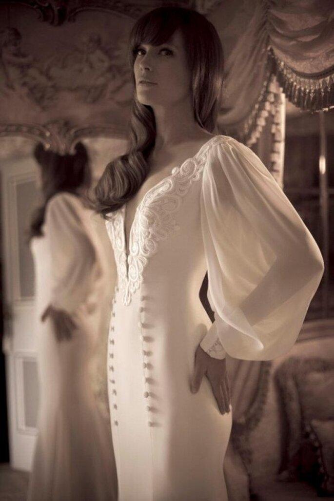 Lo mejor de dos mundos combinado en un mismo vestido - Foto Yaki Ravid