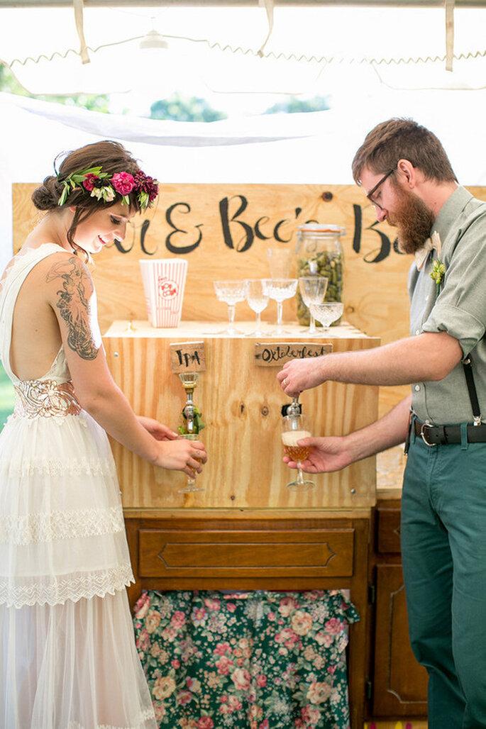 Bar de cerveja em casamento