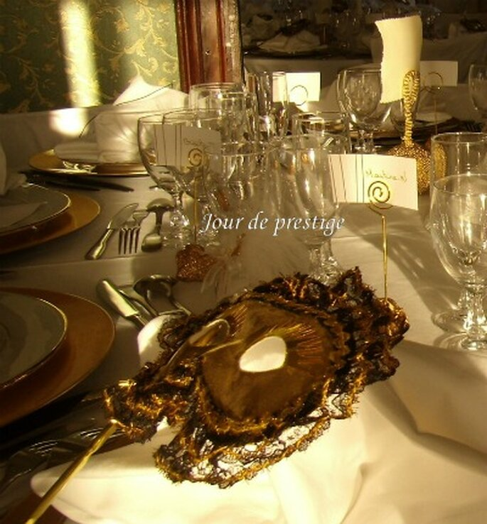 Décoration de table sur le thème de Venise