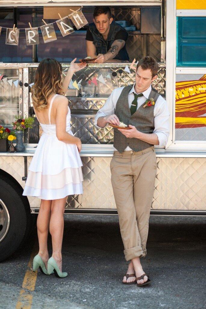 Food Truck para un delicioso banquete de boda - Foto Lily Red Studio