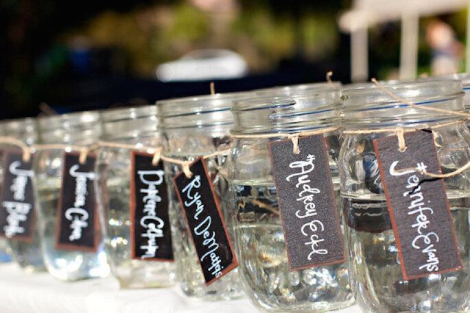 Las ideas más originales para usar los mason jars en tu boda - Sean Walker