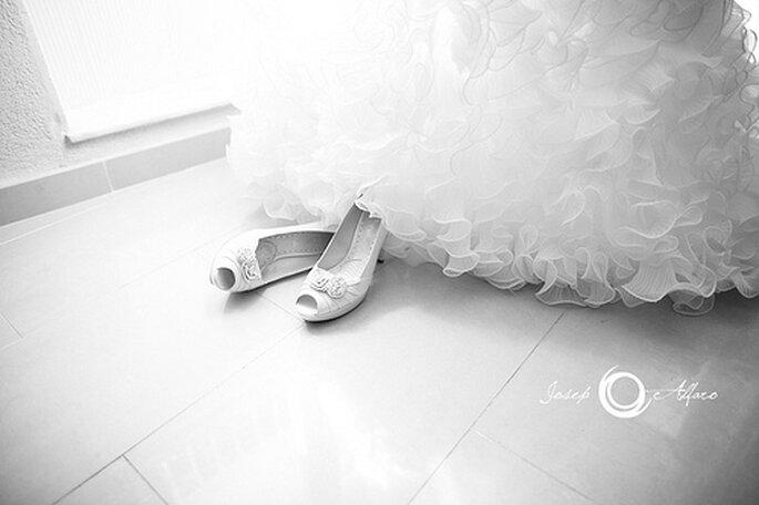 Chaussures de mariée : quelle hauteur de talon choisir ? - Photo : Joseph Alfaro