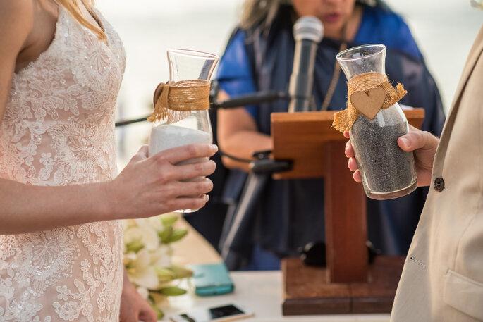 Cerimônia de areias no casamento