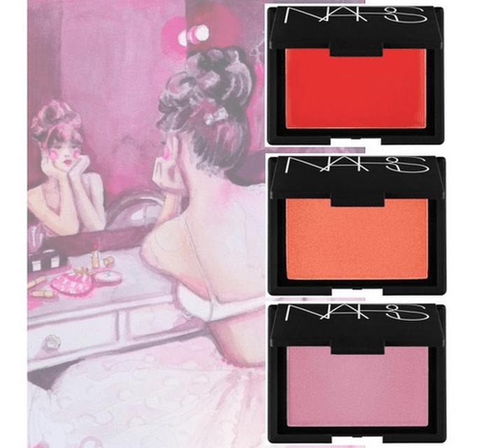Blushes de colores para el maquillaje de la esposa - Foto Sephora e ilustración de Paperfashion