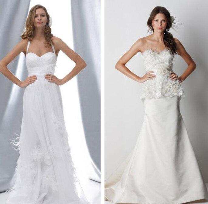 Robes de mariée à plumes Watters Brides