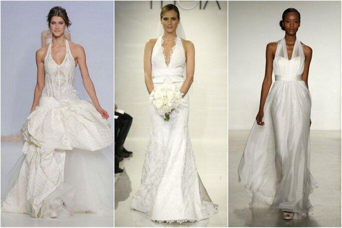 Vestidos de novia con cuello halter 2014