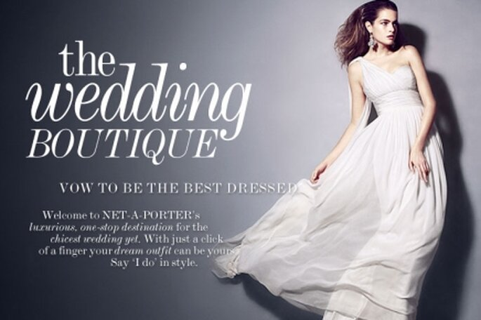 Comprar o vestido de noiva online na Net-a-Porter