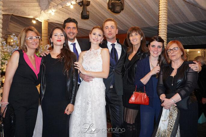 Con gli sposi, splendidi nei loro outfiti Pignatelli