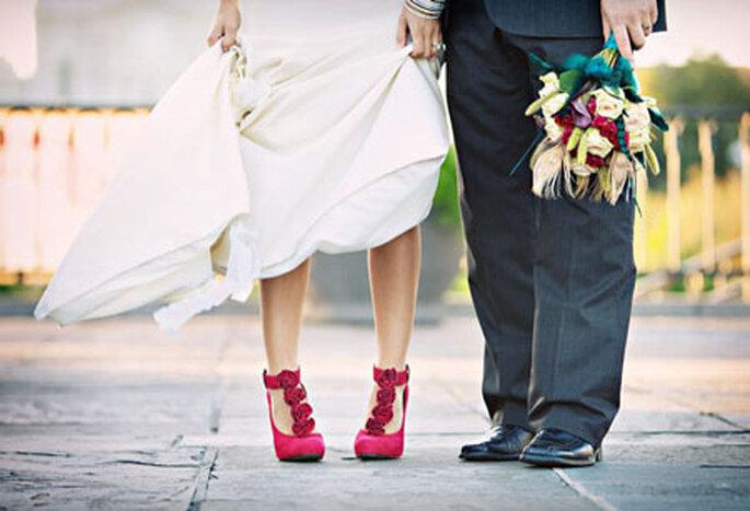 67ccb6bc2 Sapatos coloridos: uma ideia divertida para noivas