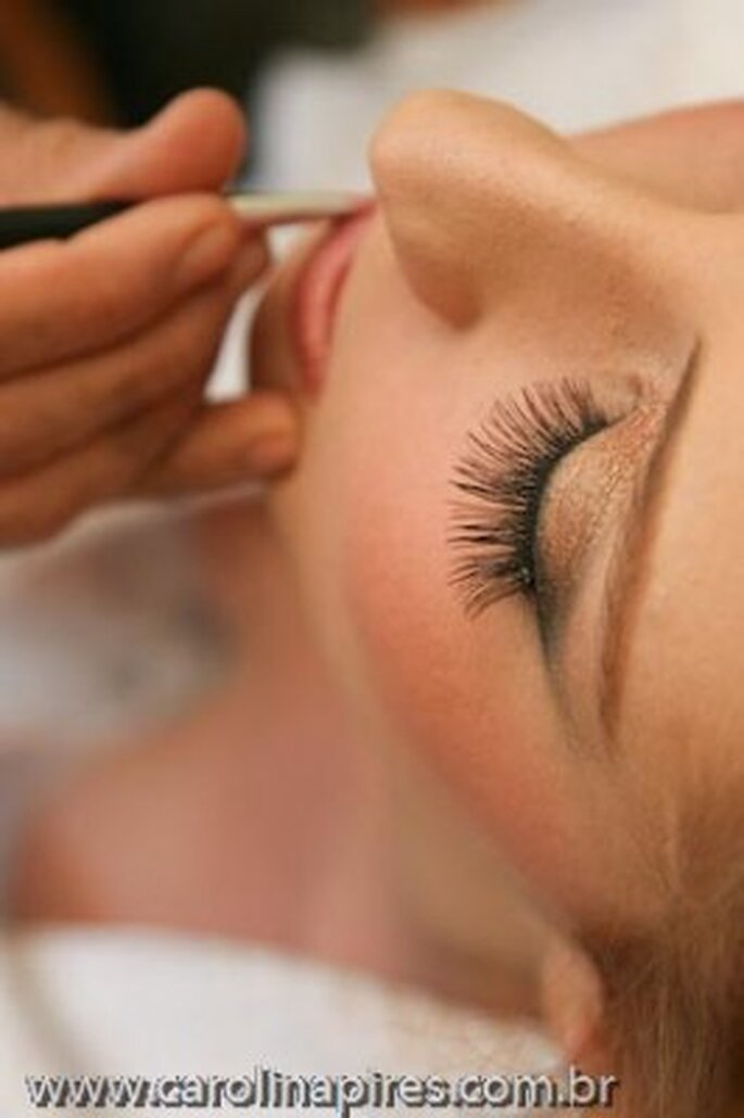 Inspriration Star Make-Up für den schönsten Tag im Leben. Foto: Carolina Pires