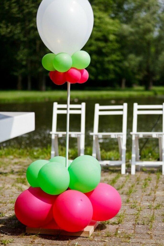 Elige globos para la decoración de tu boda - Foto: 2Rings Trouwfotografie