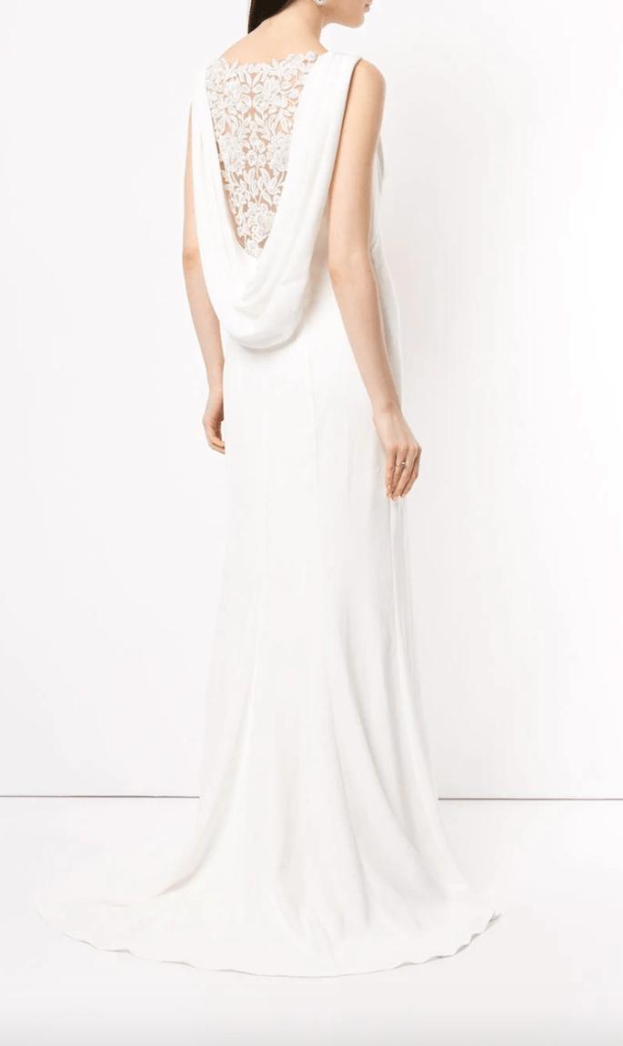 Vestido de novia elegante y barato con detalles de encaje