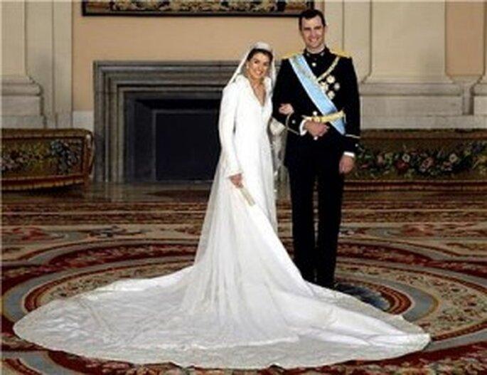 el vestido nupcial de doña letizia