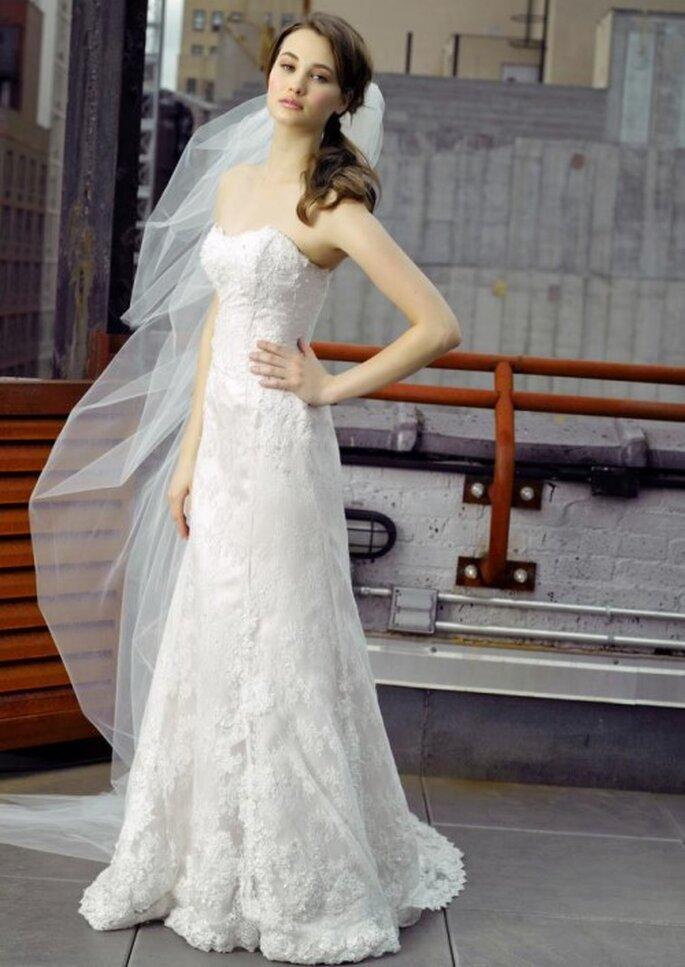 Vestidos de novia sencillos y modernos para una boda en verano