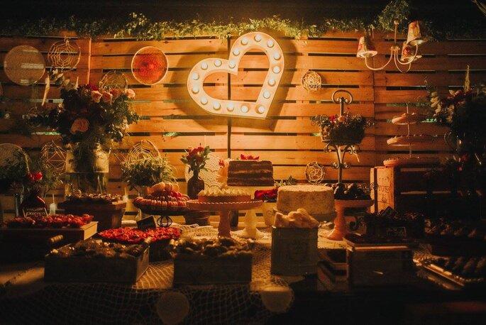 decoraçao de casamento boho