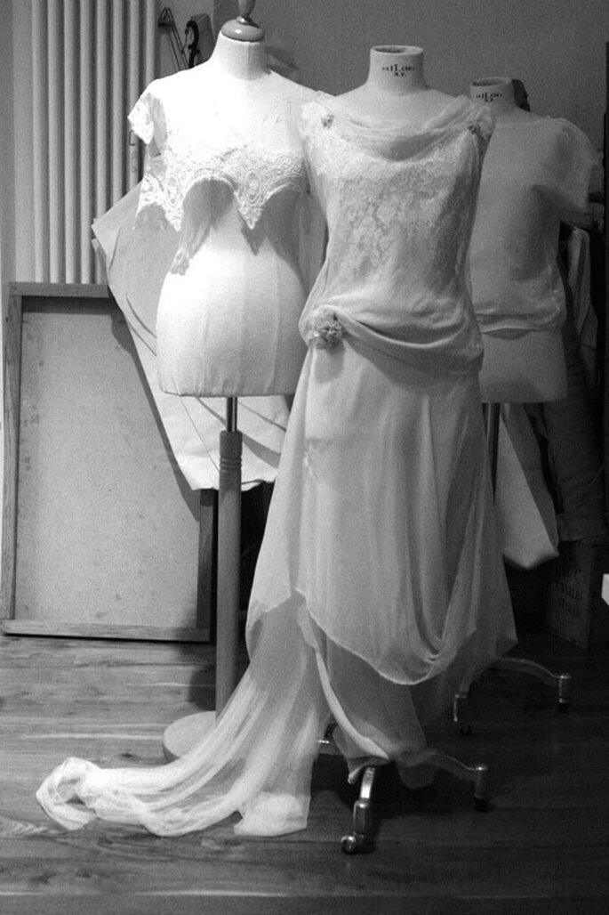 Abito da sposa in pizzo atelier yooj. Foto: atelier yooj