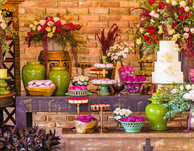 Aluguel de móveis e materiais para casamentos Sorocaba