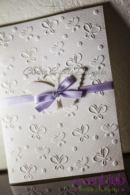 Partecipazione di nozze Mod. Dolci Farfalle