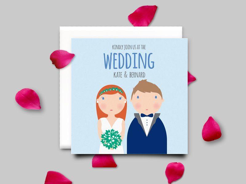 Personalizowane zaproszenia na ślub - do kompletu można dokupić magnesy jako podziękowania dla gości weselnych!