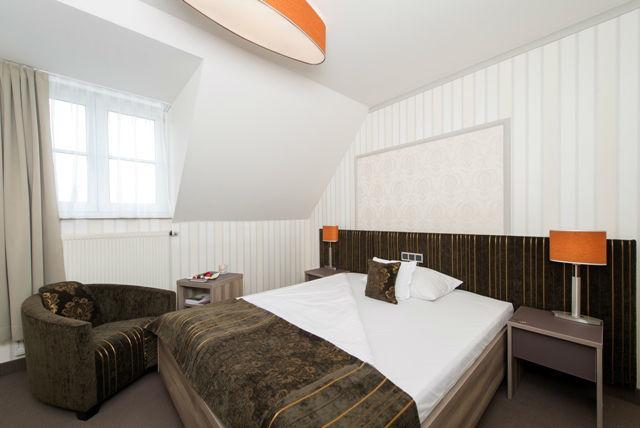 Beispiel: Standardzimmer, Foto: Romantik Hotel Dorotheenhof.