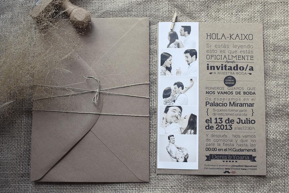 invitaciones de boda originales by www.lafabricademariana.com