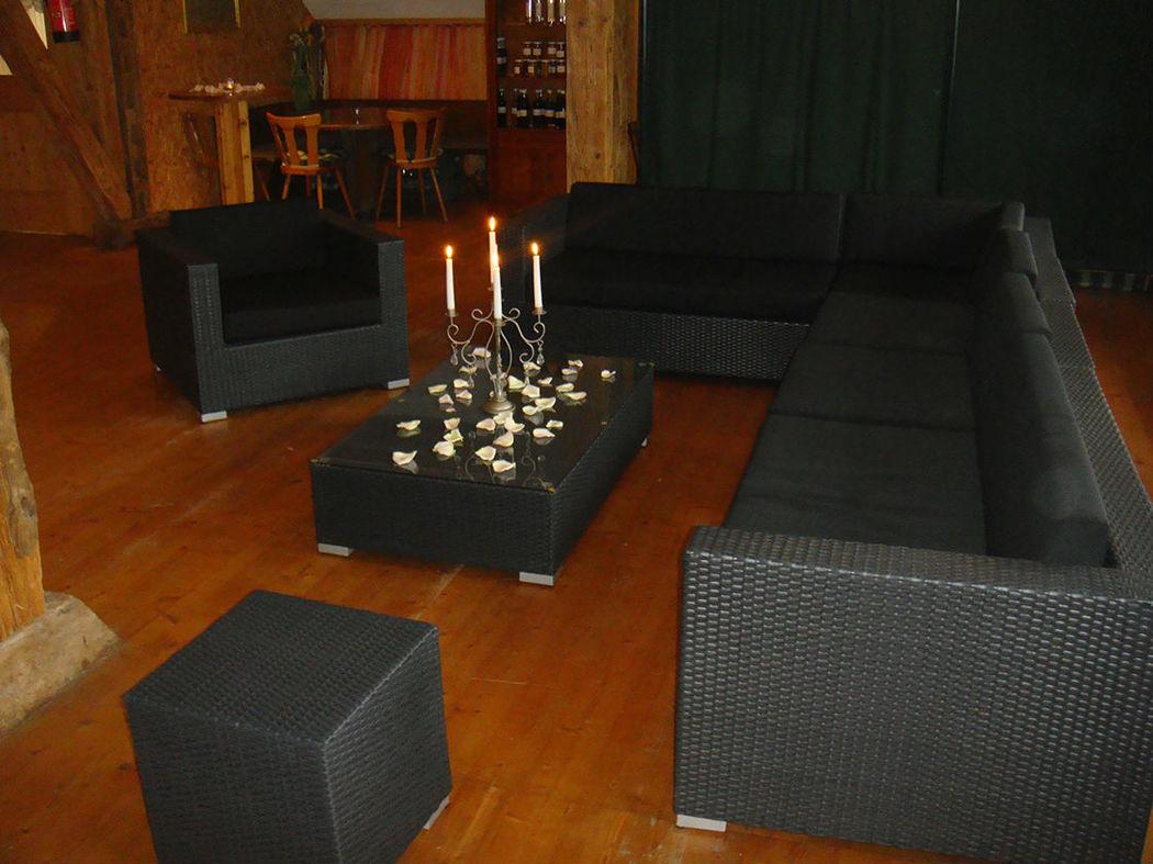 Beispiel: Lounge, Foto: Hof-Landschi.