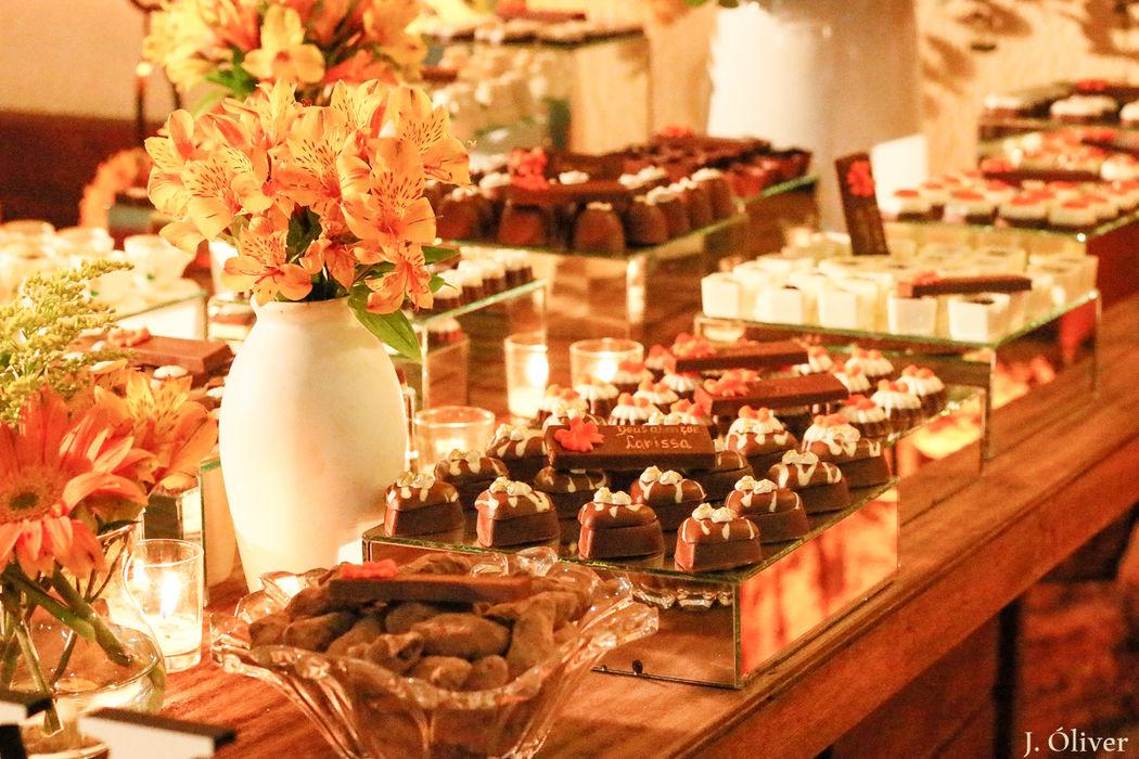 Decoração Mesa de Chocolate