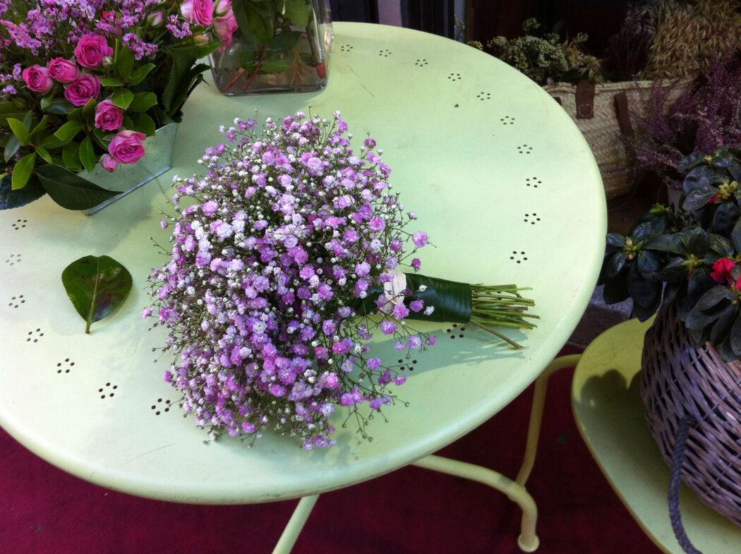 ramo de paniculata rosa, muy romantico
