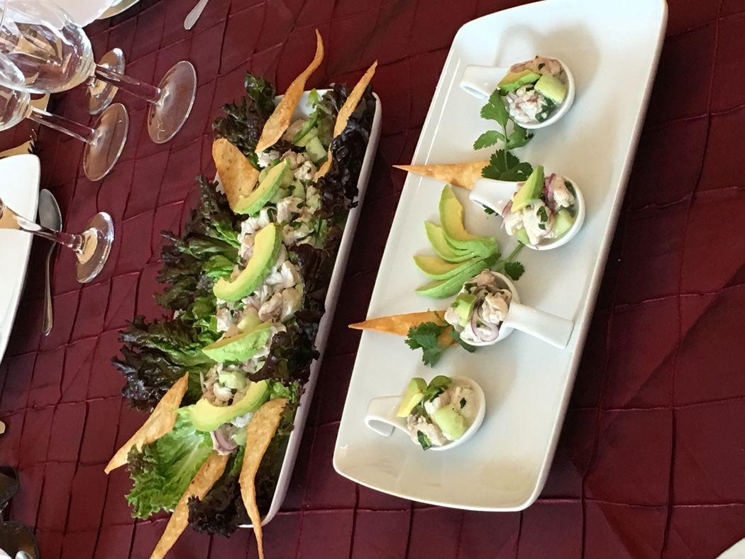 Aguachile de camarón y pescado