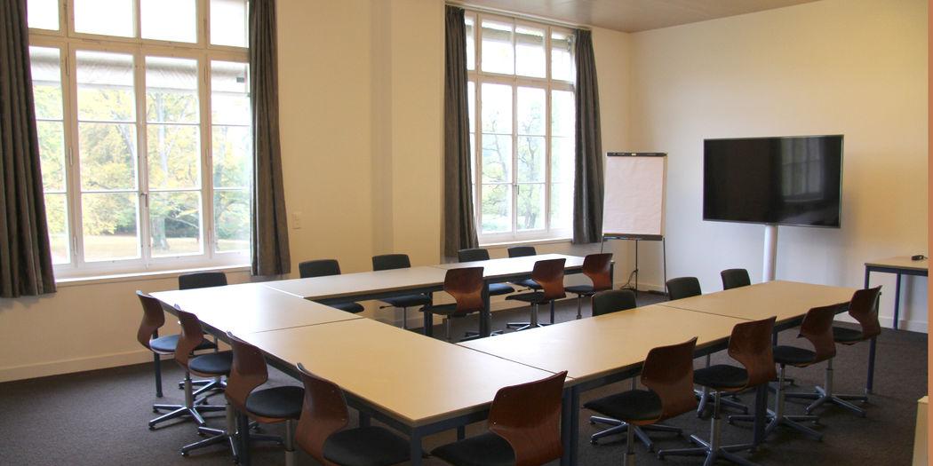 Seminarraum im 1. Stock mit Blick auf den BallyPark