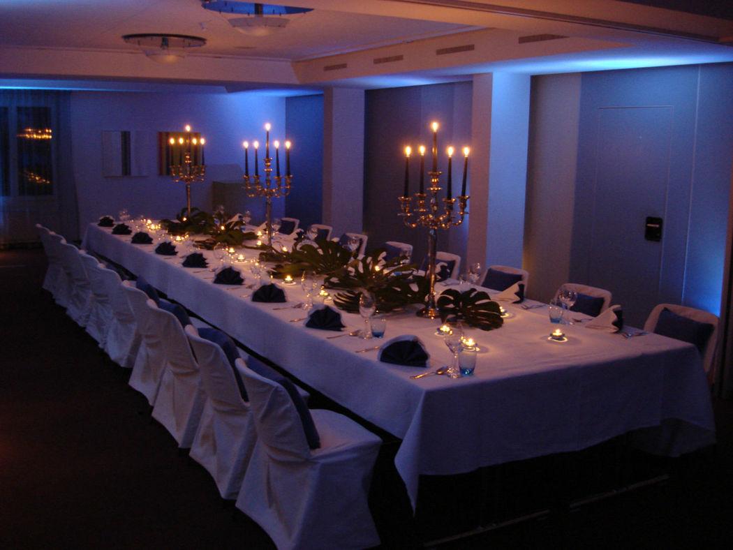Beispiel: Hochzeitstafel, Foto: Seehotel Wilerbad.