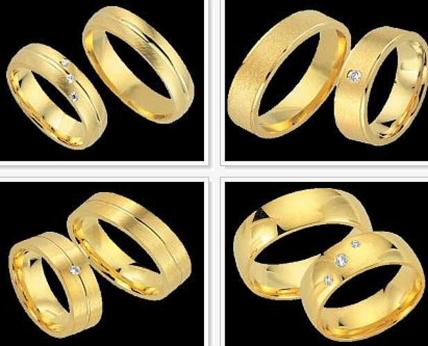 Beispiel: Trauringe - Gelbgold, Foto: Juwelier Benjamin.