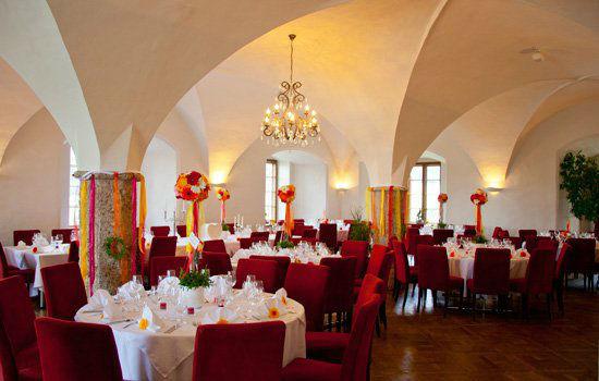Beispiel: Hochzeitsgedeck, Foto: Schloss Mattsee.