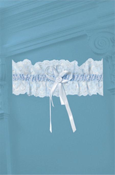 Beispiel: Strumpfband, Foto: Oprée Brautmoden Accessoires.