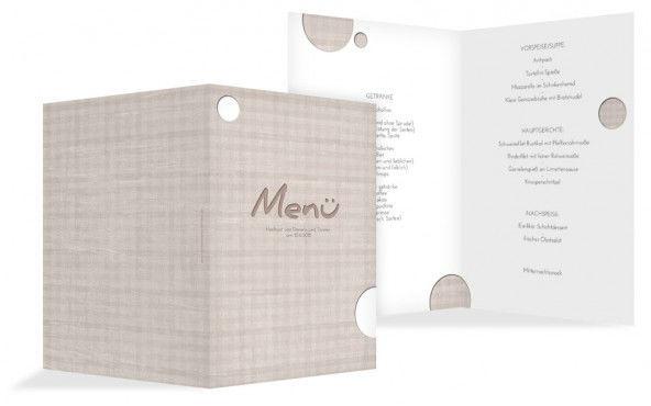 Beispiel: Kreative Menükarten, Foto: Hochzeitskarten- Paradies.