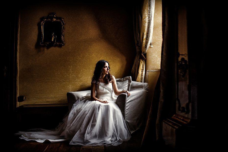 Romantisches Hochzeitsportrait im Schlosshotel Hugenpoet - RAMAN-PHOTOS