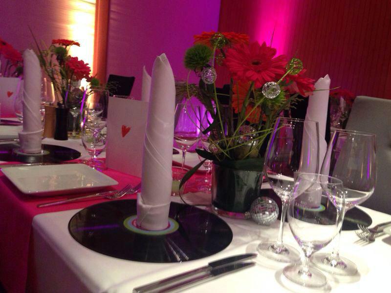 Beispiel: Tischdekoration, Foto: Schindlerhof.