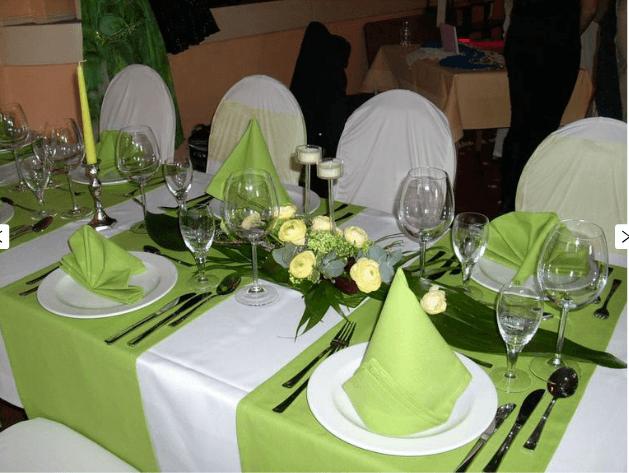 Beispiel: Tischdekoration, Foto: Kulturhaus Eutritzsch.