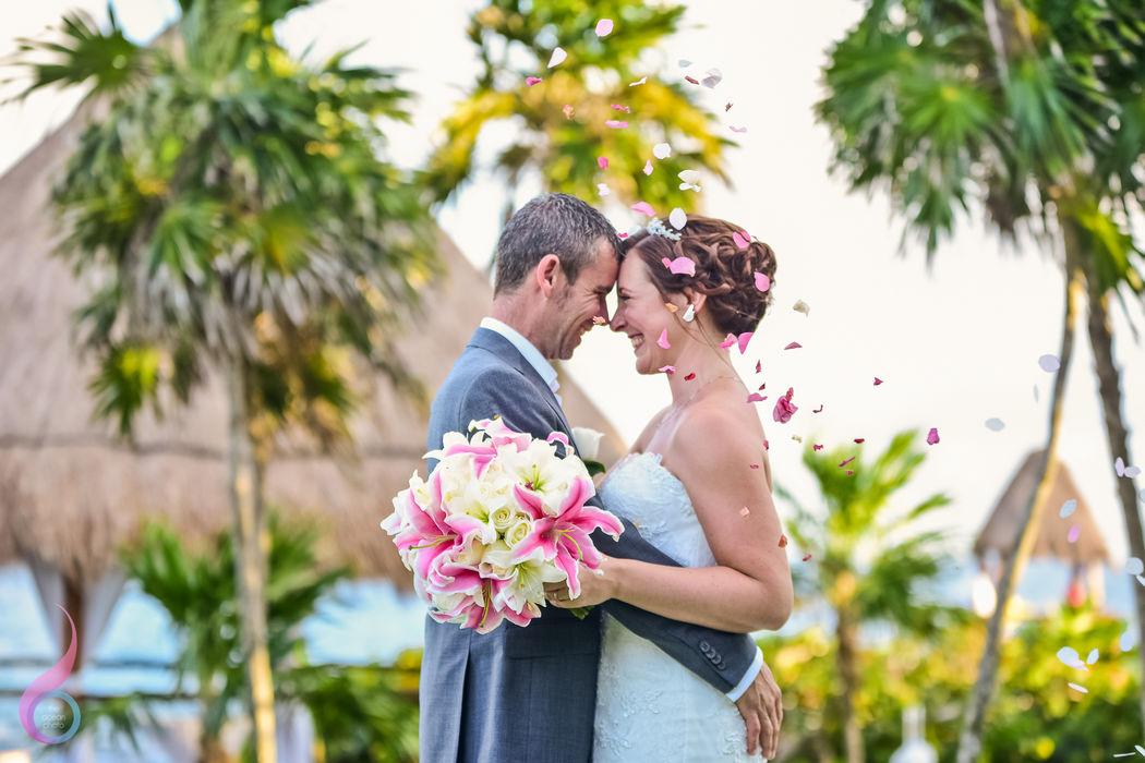 The Ocean Photo Weddings Garden Gazebo Wedding Occidental at Xcaret Destination Riviera Maya photographer