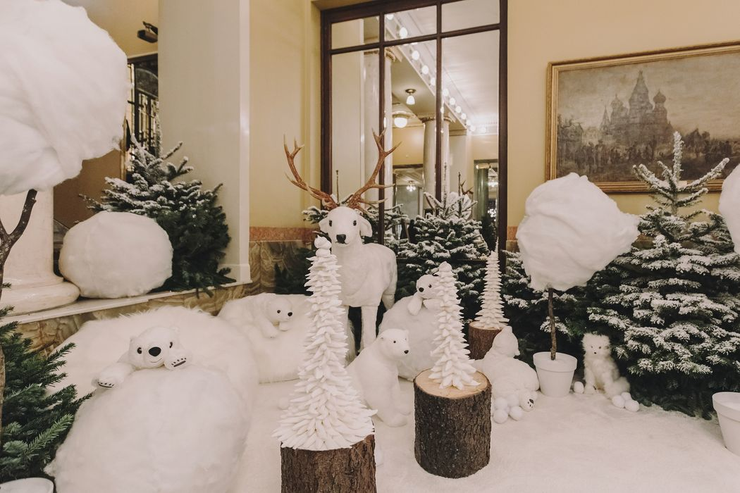 Студия Maria German decor создала рождественскую сказку в Moscow Metropol Hotel