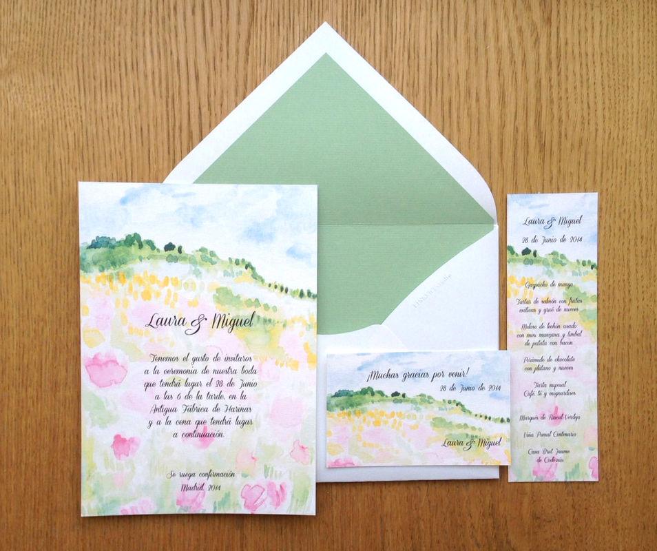Invitaciones coloridas y frescas.