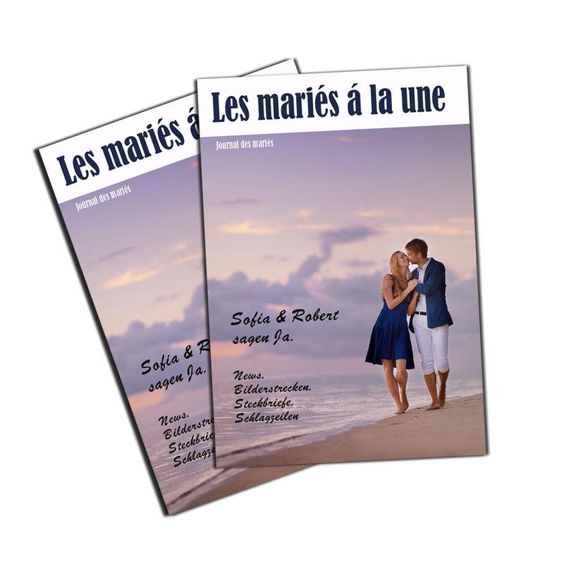 Les gazettes des mariés. http://www.livret-mariage.fr/la-gazette-des-maries.html