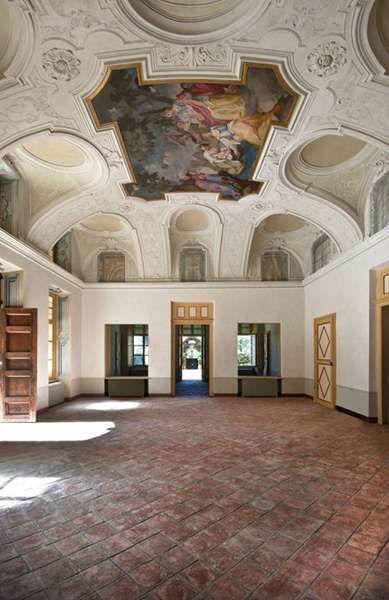 Villa Bria .... grande affresco Salone Mosè