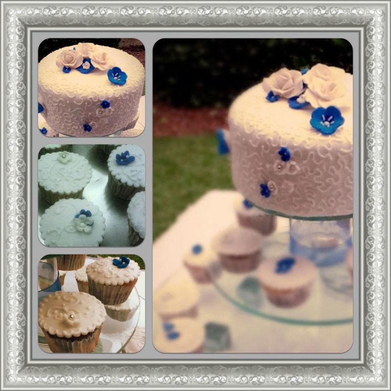 Detalles Pastel en Fondant & Cup Cakes